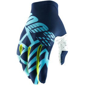 100% Celium 2 Gloves Navy/Ice Blue/Fluo Lime